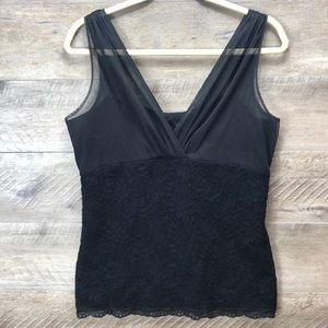 ANN TAYLOR LACE AND SHEER CAMISOLE TOP SZ L